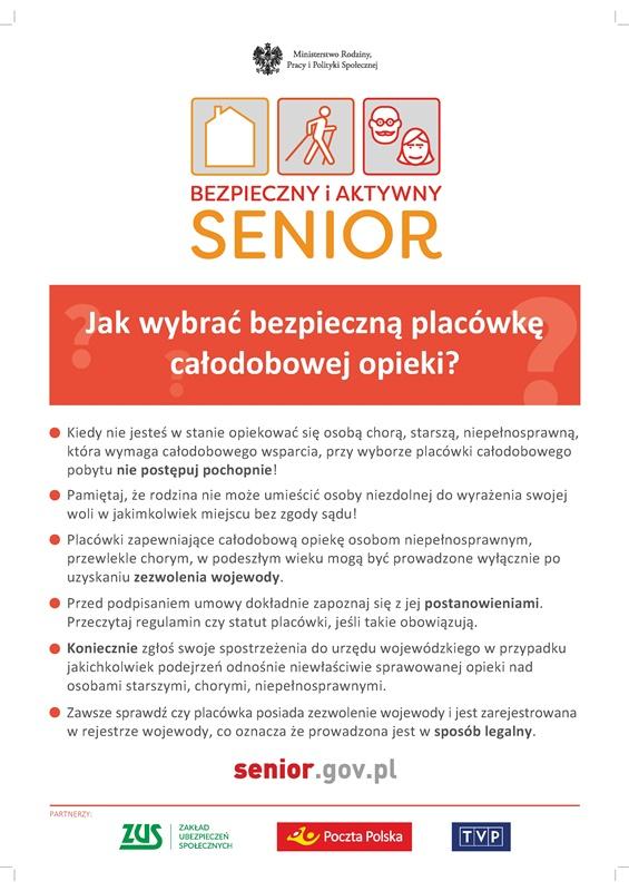 Plakat senior.gov.pl